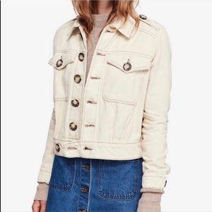 Free People Cotton Eisenhower Denim Jacket